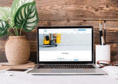 Spletna stran za čistilni in selitveni servis Banix GmbH