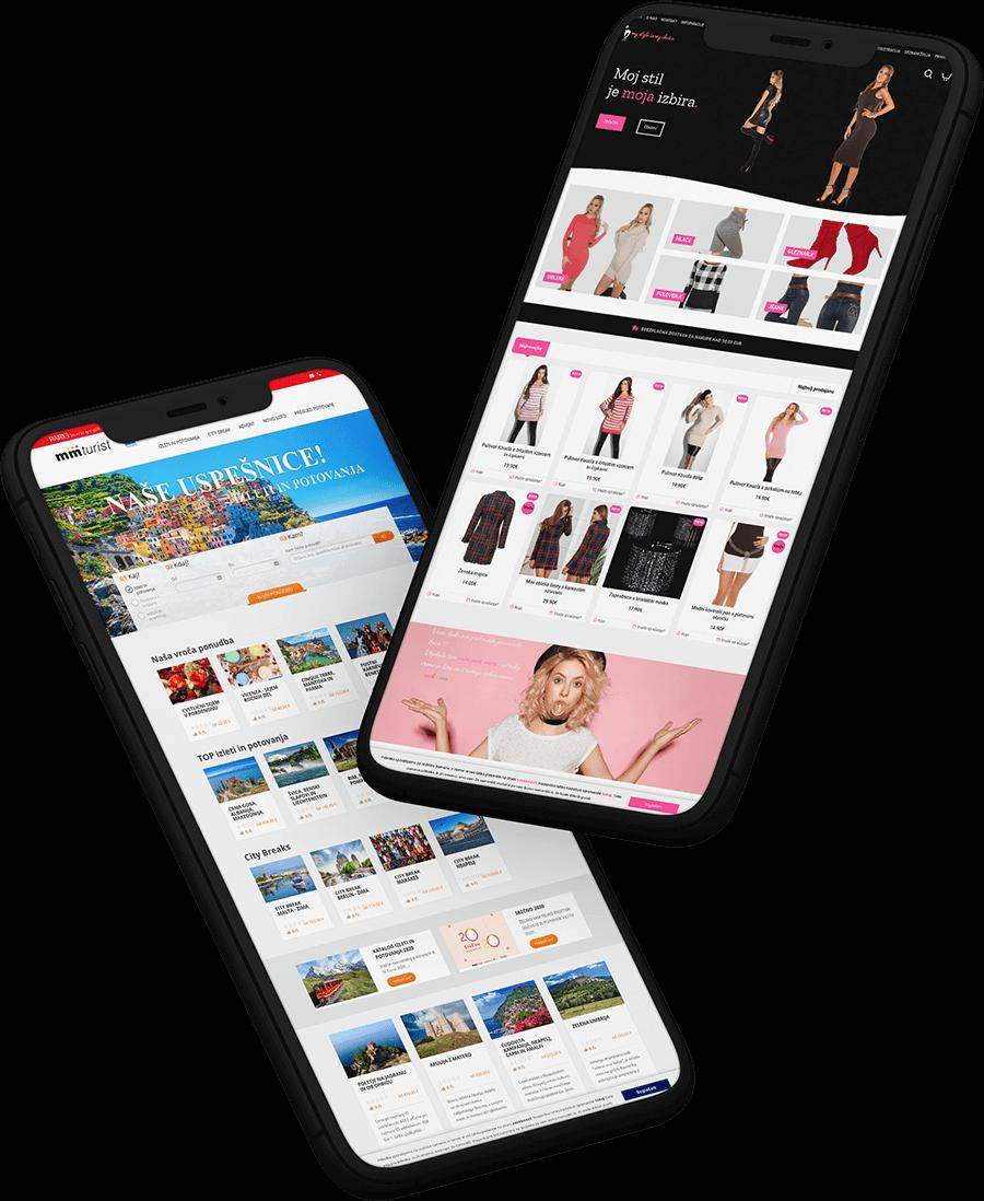 Izdelava spletne trgovine za telefone